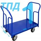 Тележка ТПД-1 (500х800мм) колеса в ассортименте (г/п 300 - 550 кг)