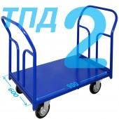 Тележка ТПД-2 (600х900мм) колеса в ассортименте (г/п 300 - 550 кг)