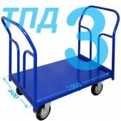 Тележка ТПД-3 (600х1000мм) колеса в ассортименте (г/п 300 - 550 кг)