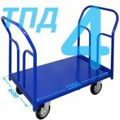 Тележка ТПД-4 (600х1200мм) колеса в ассортименте (г/п 300 - 550 кг)