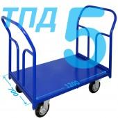 Тележка ТПД-5 (700х1200мм) колеса в ассортименте (г/п 300 - 550 кг)