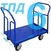 Тележка ТПД-6 (800х1200мм) колеса в ассортименте (г/п 300 - 550 кг)