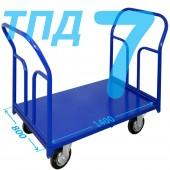 Тележка ТПД-7 (800х1400мм) колеса в ассортименте (г/п 300 - 550 кг)