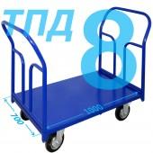 Тележка ТПД-8 (700х1000мм) колеса в ассортименте (г/п 300 - 550 кг)
