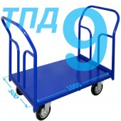Тележка ТПД-9 (500х1000мм) колеса в ассортименте (г/п 300 - 550 кг)