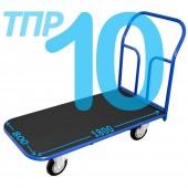 Тележка ТПР-10 (800х1800мм) с противоскользящим покрытием, платформенная. Колёса на выбор.