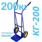 Тележка грузовая двухколесная КГ-200 (г/п - 200кг, колеса 250мм, пневмо или литая резина на выбор)