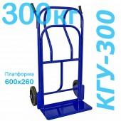 Тележка грузовая двухколесная КГУ-300  (г/п - 300кг, колеса 250мм, литая резина с чугунным ободом)