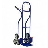 Тележка для подъема груза по лестнице (лестничная) КГЛ-170 (г/п - 170 кг, колесные блоки из 3 колёс 160мм, литая резина)