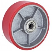 Колесо рулевое 160х50 мм (полиуретан) для гидравлической тележки (рохлы, роклы)